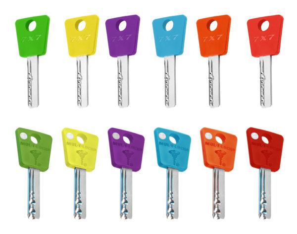 KUDERA klíčové systémy - klíč - 7x7